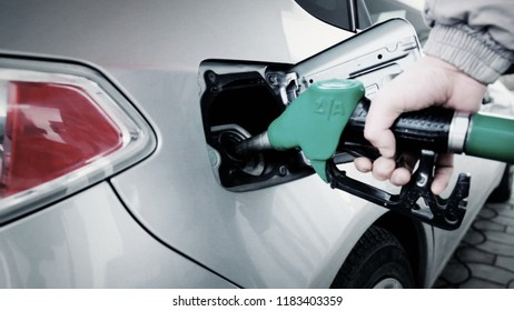 Filling the car with a petrol