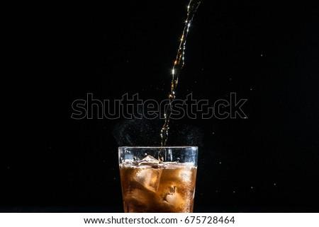Filling coca soda in