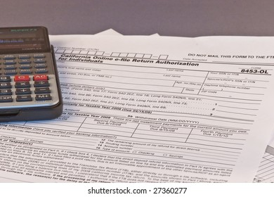 Filling federal individual tax return forms