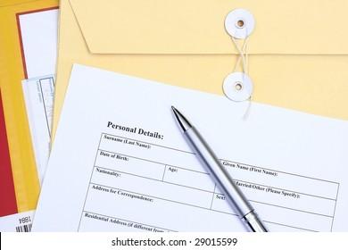 Filling a form