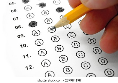 Filling out Answers on a Multiple Choice Test