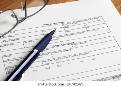 filling out personal information