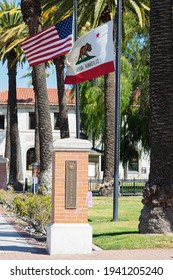 Fillmore, CA, USA - March 21, 2021: this image shows a view of Central Park in the City of Fillmore in Ventura County.