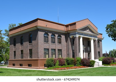 FILLMORE, UTAH - JUNE 29, 2017: Millard County Courthouse. The county and its seat were named for Millard Fillmore, thirteenth President of the United States.