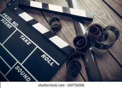 Film, cinema, clapper.