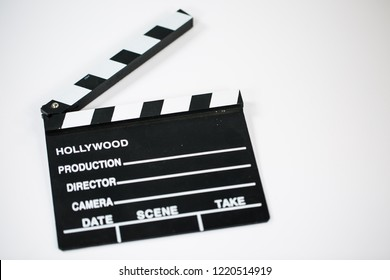 film clap on white background