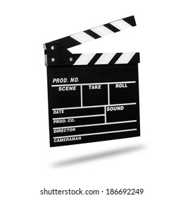 Film Clapboard. Isolated on white.