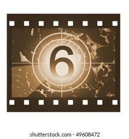 Film countdown in sepia design at No 6