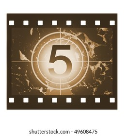 Film countdown in sepia design at No 5