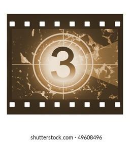 Film countdown in sepia design at No 3