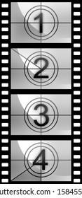 Film countdown texture