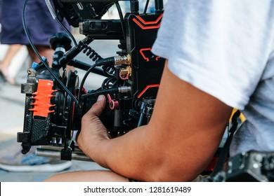 Film Crew. Behind the scenes