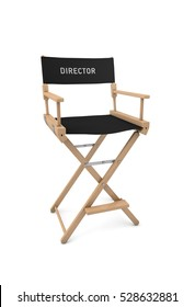 Film director's chair isolated on white background. 3D rendering