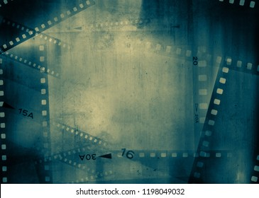 Film negative frames grunge background