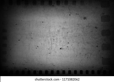 Film negative frames on grey background