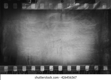 Film negatives frame, copy space