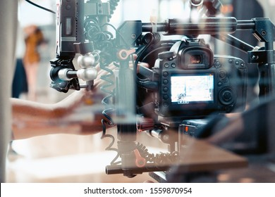 Film production crew, Behind the scenes background