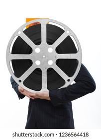 film reel in hands