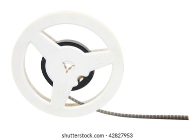 film reel isolated on white with clipping path