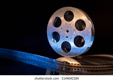 film reel on black background