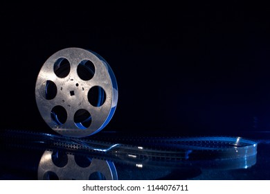 film reel on dark background