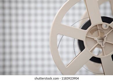 film reel on light background