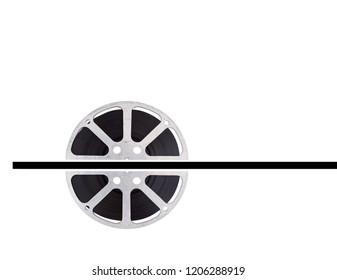 film reel on white background