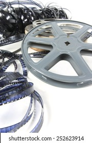 film reels and celluloid