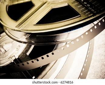 Film reels closeup