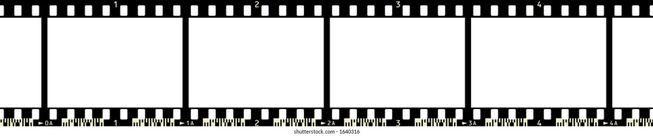 Film Strip (4 Frames, with numbers, with code)