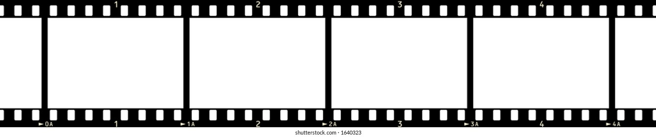 Film Strip (4 Frames, with numbers, no code)