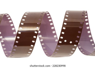 Film strip close up