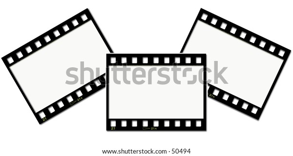 Film strip collage background