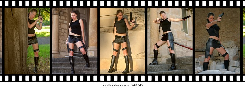 Film strip images of a costume shoot...