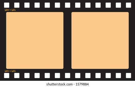 Film Strip.  Includes Clipping Path so you can easily insert pictures and change the opacity of the orange area to give it a film effect.