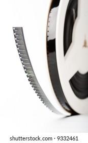 film strip reel closeup color old