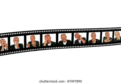 Filmframe with human expressions