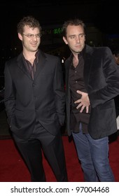 Filmmakers TREY PARKER (right) & MATT STONE at the Los Angeles premiere of their new movie Team America: World Police. October 11, 2004
