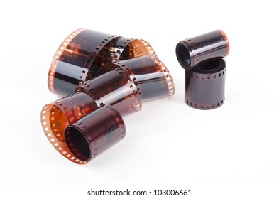 films on white background