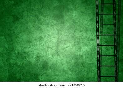 Filmstreifen Alt Grunge Background green