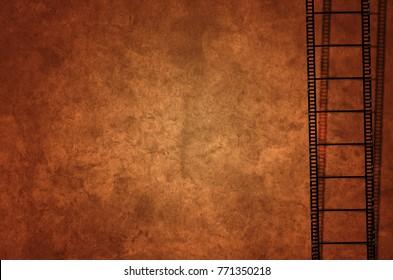 Filmstreifen Alt Grunge Background orange