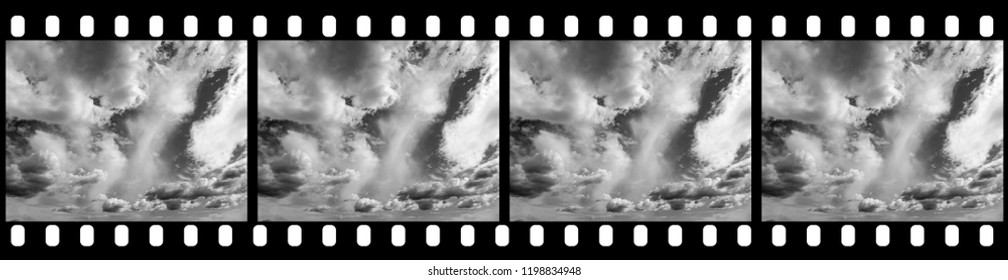 Filmstrip Cloudy Sky - Background