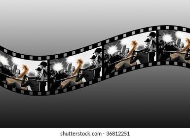 Filmstrip collage