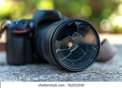 Filter camera lens broken after accidently fell down to floor