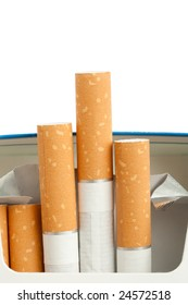 filter cigarettes on white background