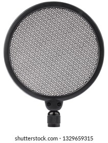 Filter Swivel Mount Mask Shied for Speaking Recording of Microphone isolated on white background