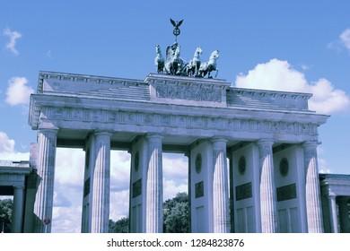 Filtered style landmarks: Berlin Brandenburg Gate.