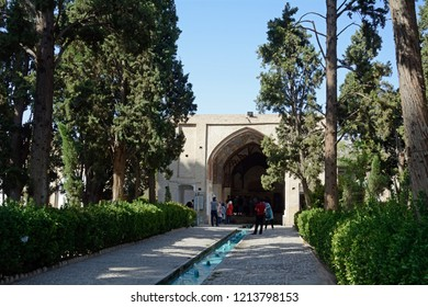 FIN (KASHAN), IRAN - AUGUST 31: Fin garden at 31 August, 2018 at Fin (Kashan), Iran. Fin garden is a World heritage site in the old town of Isfahan.