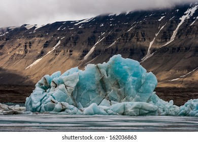 The final days of an iceberg at Bellsund, Svalbard, Arctic.