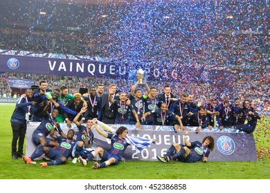 The final game of Coupe de France season 2015-2016 was between Paris Saint Germain and Marselle. Paris St. Germain was the winner. It was in May 2016 at Stade de France, Paris.